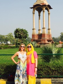 Me, in my matching Indian set. Casey in an amazing light weight beautiful dress. Clearly I'm afraid of the sun!